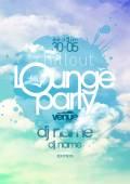 Fényképek Chillout lounge party poszter ég hátteret