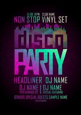 Disco party non stop design.