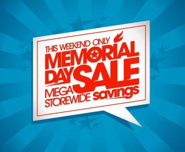 Memorial day sale design.
