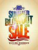 Fotografie Sommer Blowout Verkauf Textentwurf mit tropischen Hintergrund