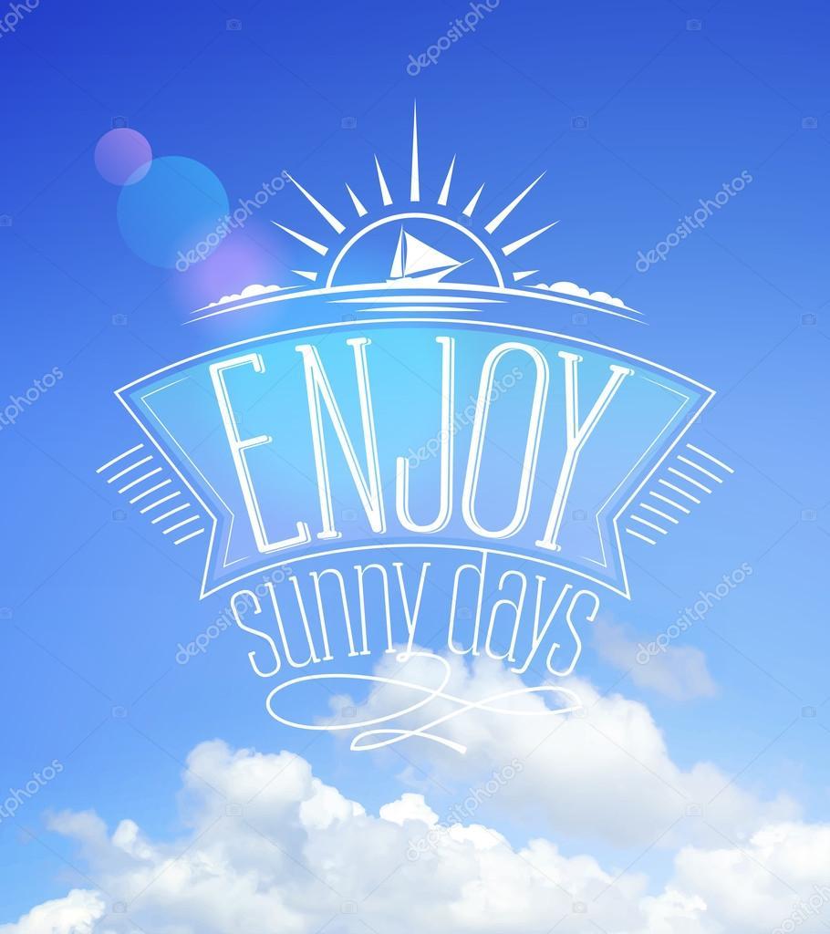 Blue sky card, enjoy sunny days