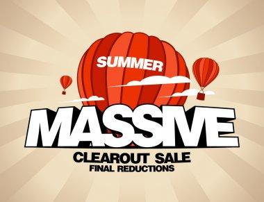 Massive summer sale design template