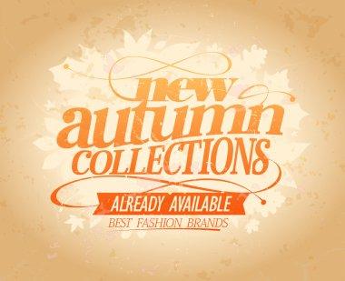 New autumn collections retro design.