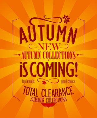 Autumn is coming design.