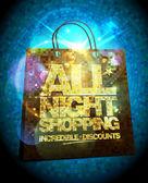 Fényképek Egész éjjel vásárlás eladás tervez-val arany crystal bevásárló táska