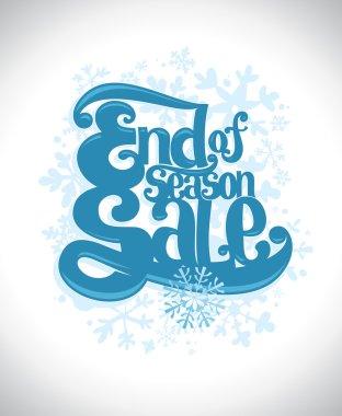 End of season sale winter design.