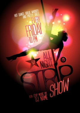 All night strip show poster