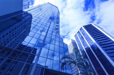 Modern glass building in Brisbane city