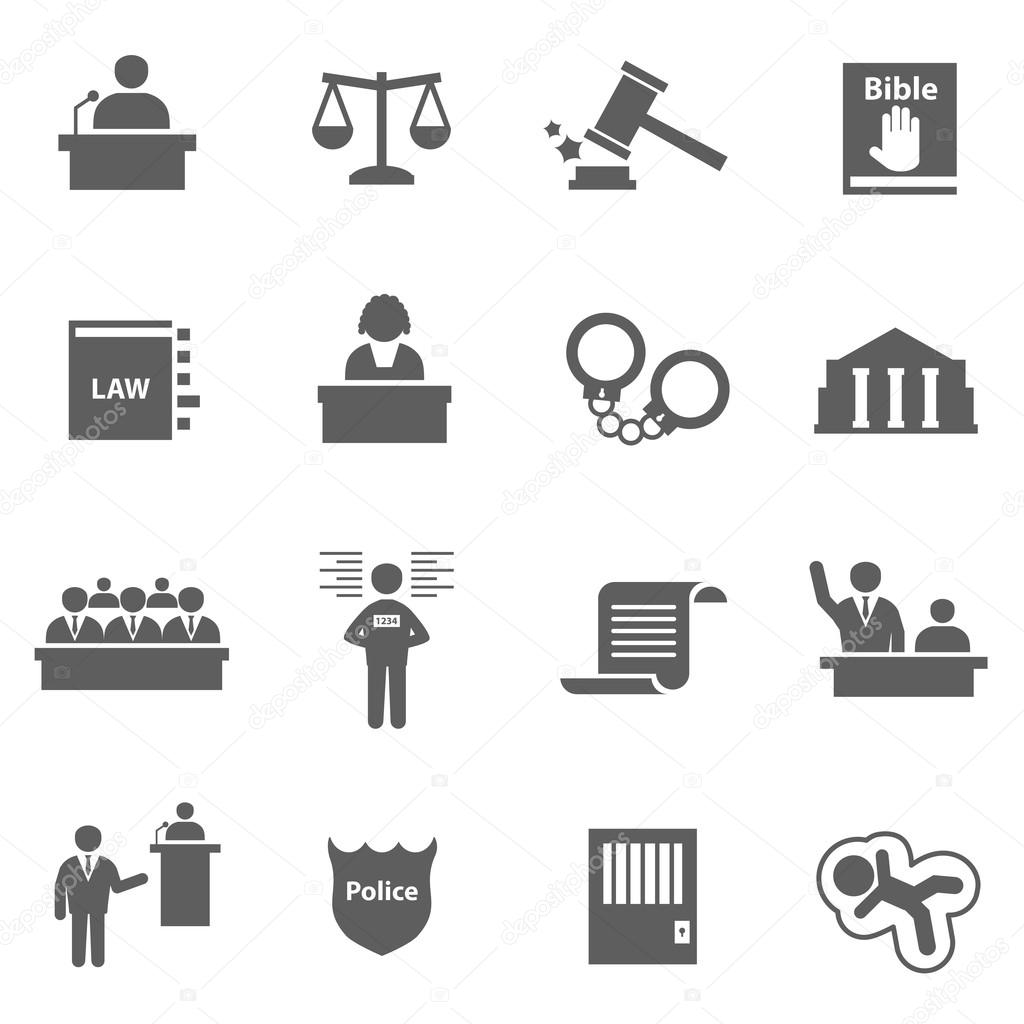 Set of law icons
