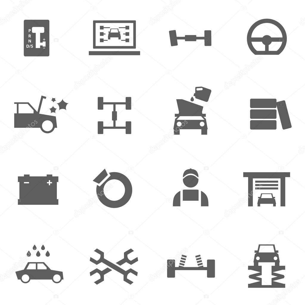 Set Auto-Service-icons — Stockvektor © DeepOV #69340677