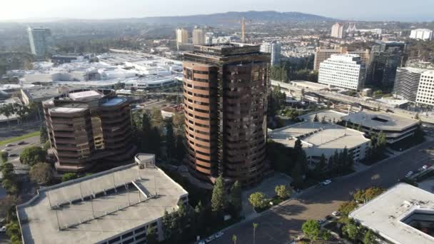 Aerial view of business office building in University City, San Diego