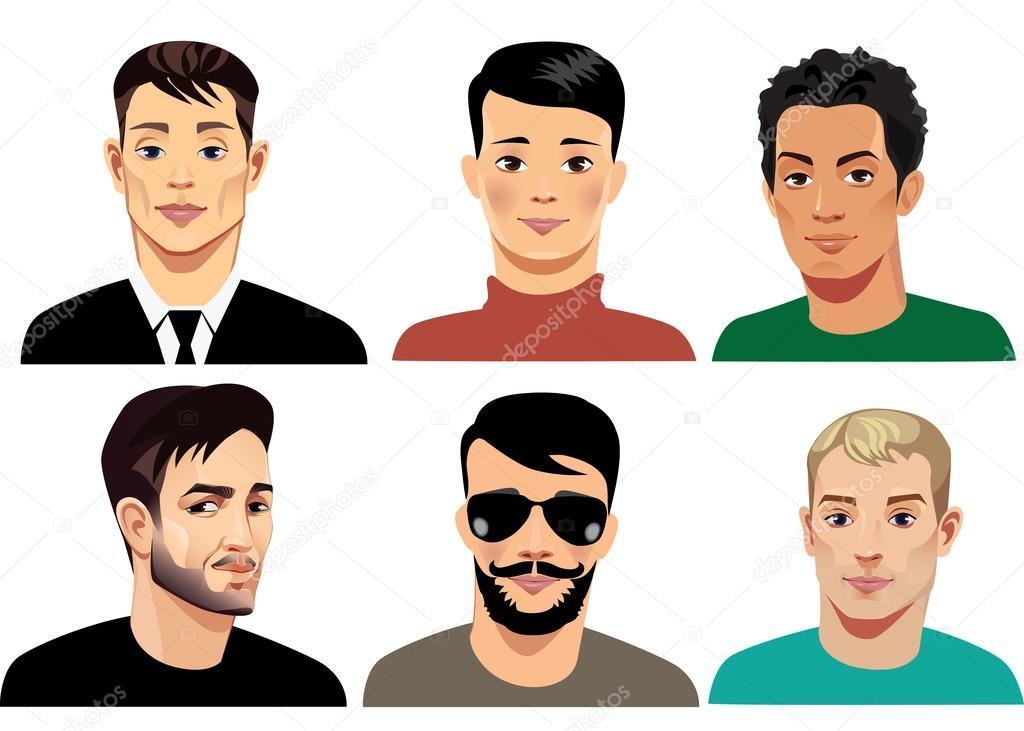 Imágenes: Rostros De Hombres Vectorizados