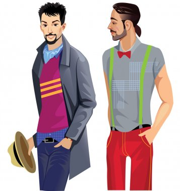 Two fashionable men's coat and shirt