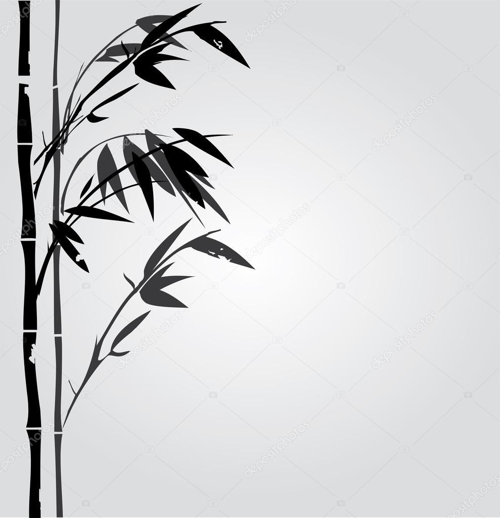 Bambus Vektor Silhouette Stockvektor C Lilac Design 100842550