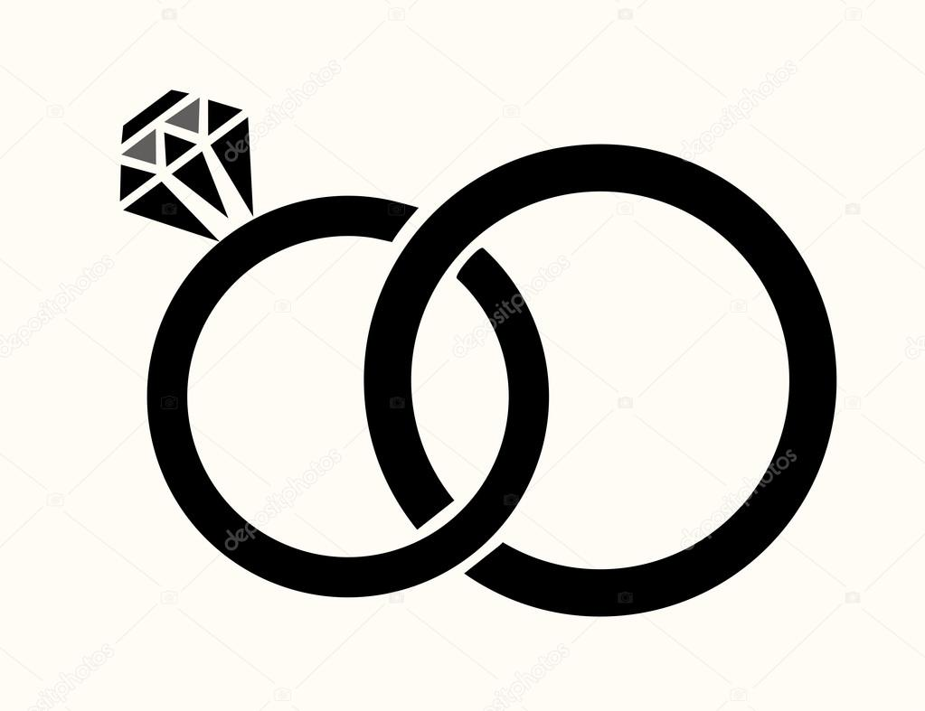 Wedding Rings Vector — Stock Vector © lilac-design #95959500