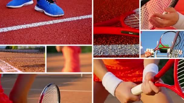 Sestřih Kolekce klipů, ukazující tenis activetes