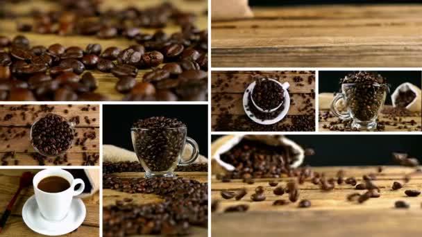 Sestřih Kolekce klipů, které ukazují nalévání kávy