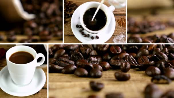 Sestřih Kolekce klipů kávová zrna a šálků kávy