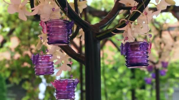 Wedding decoration with purple candles stock video jiovani 56016653 wedding decoration with purple candles stock video junglespirit Image collections