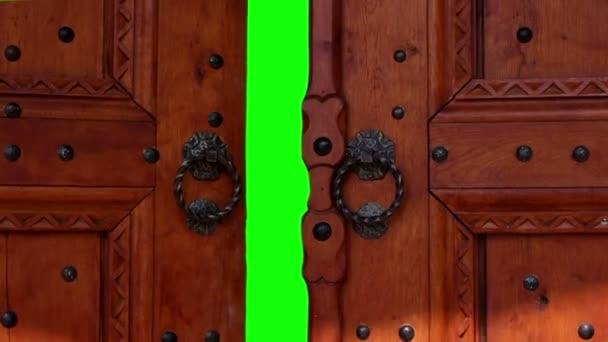 Dveře s chroma klíč. Dveře pro přechod na nové video