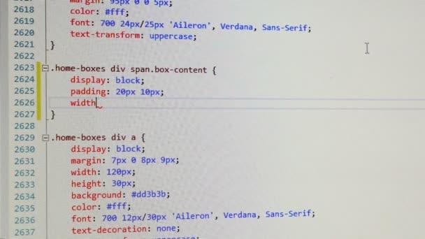 Frontend Developer zadá kód css na jeho projektu