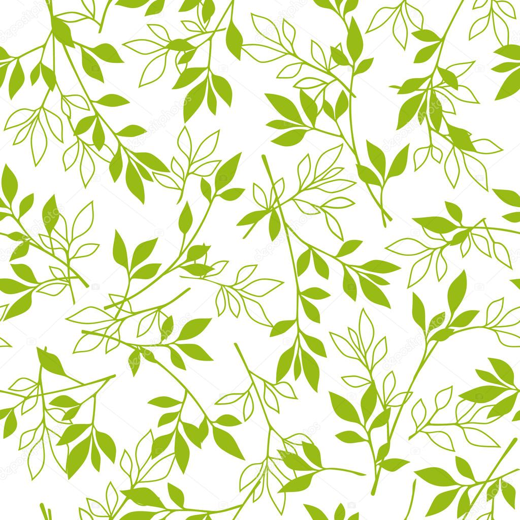 Leaf illustration pattern