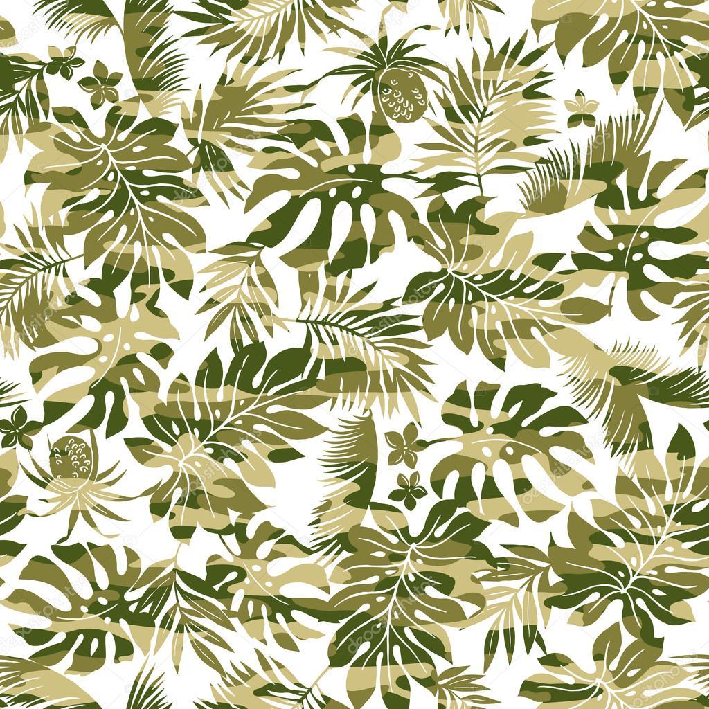 Plantes Tropicales Et Dessin De Camouflage Image