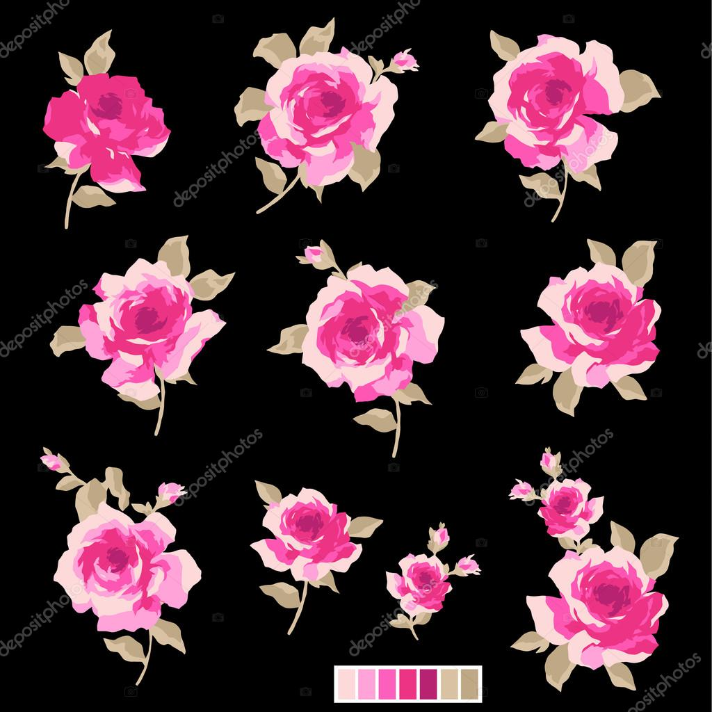 Abstract rose flower,