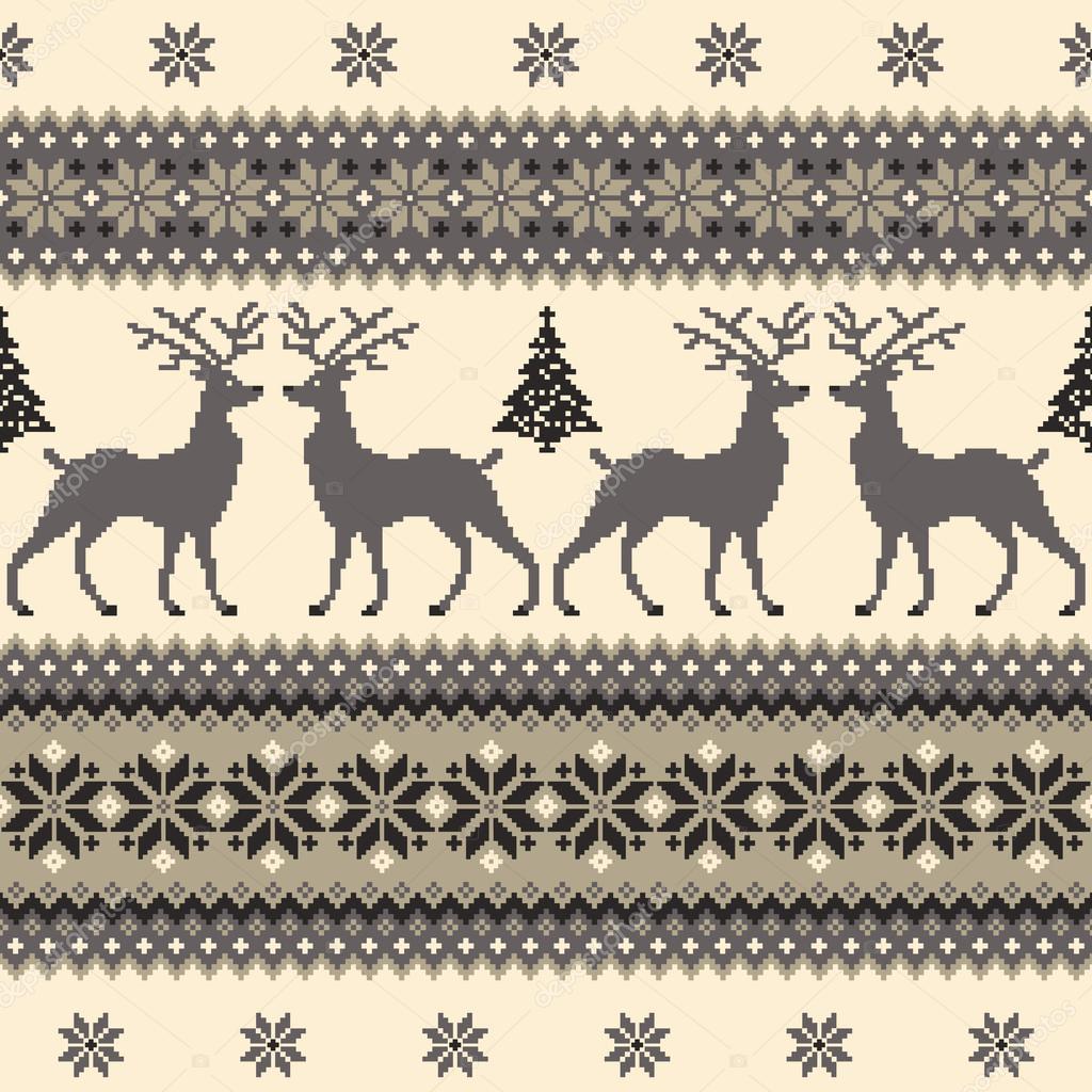 Patrón de tradición nórdica — Vector de stock © daicokuebisu #124008340