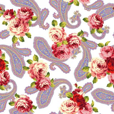 Rose and paisley