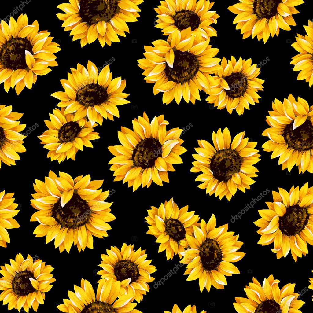 Sunflower pattern — Stock Photo © daicokuebisu #69869535