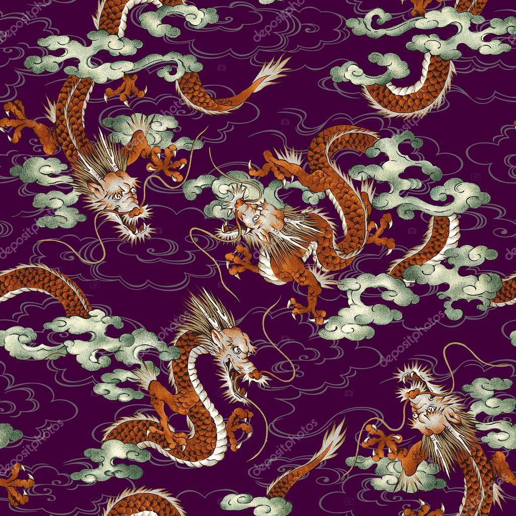 Japanese dragon pattern
