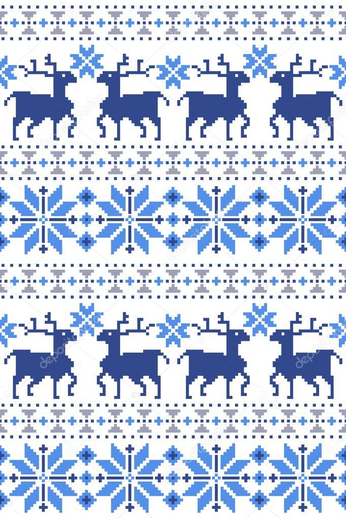 Patrón de tradición nórdica — Vector de stock © daicokuebisu #81549786