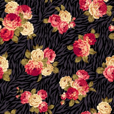 Rose flower pattern,