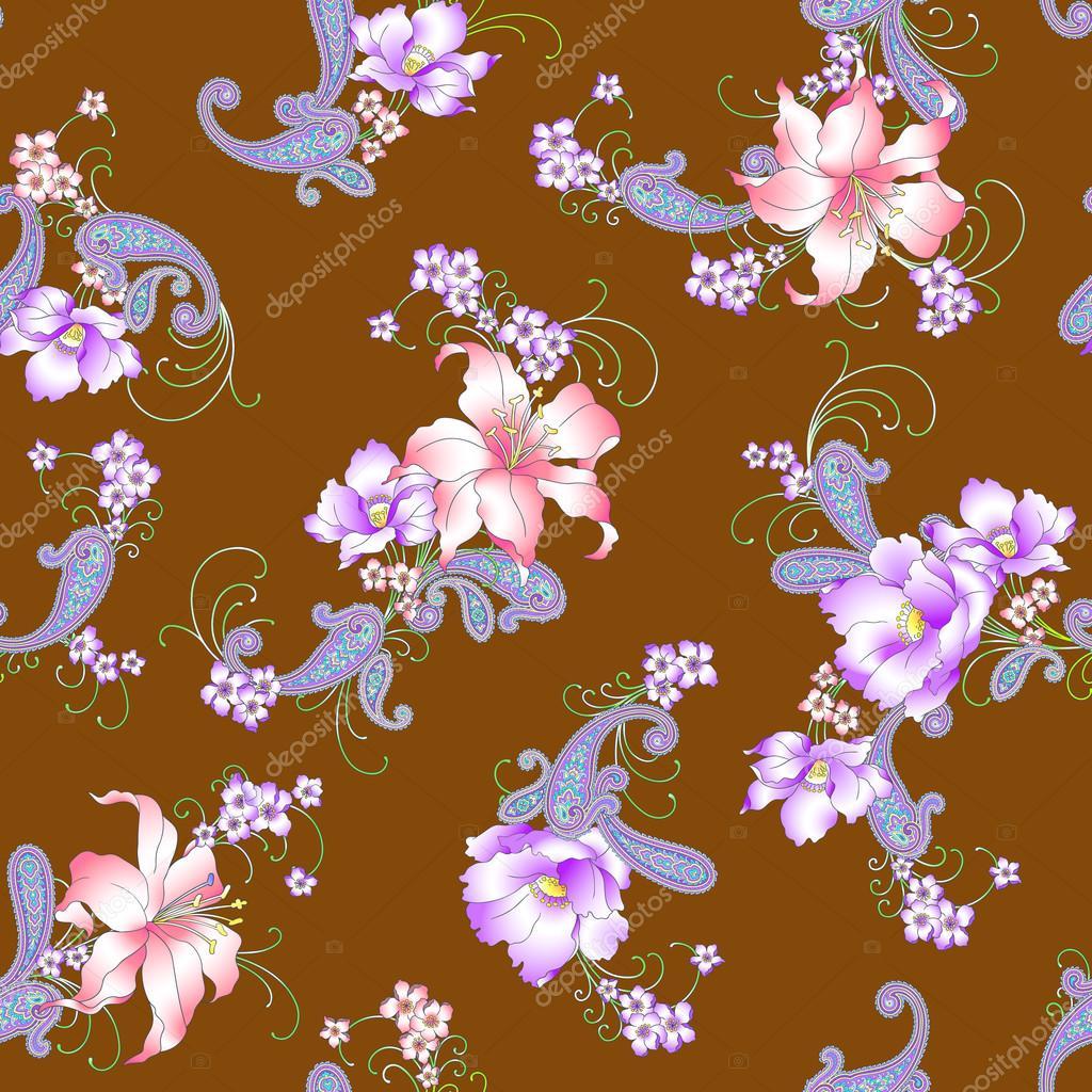 Lily paisley pattern