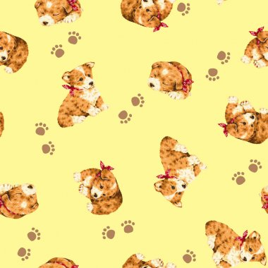 Pretty dog pattern