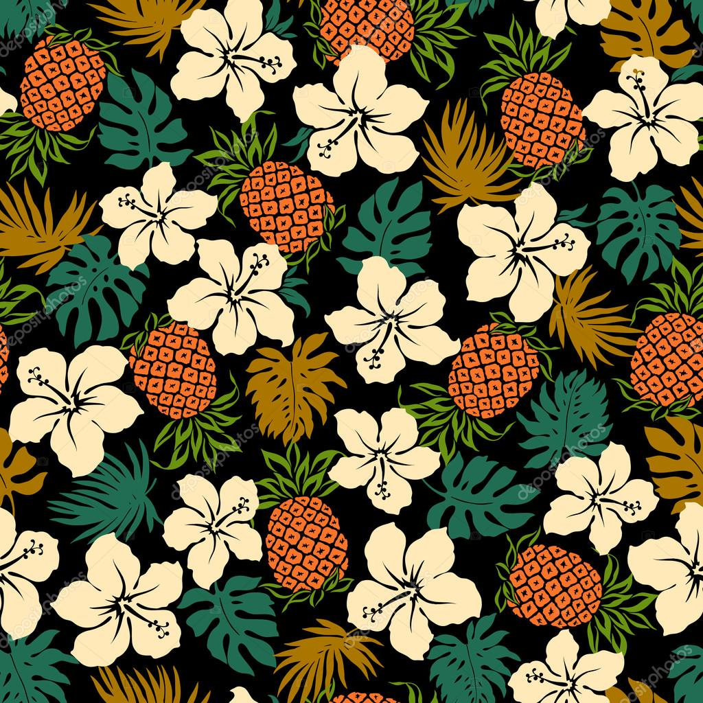 Hibiscus pineapple pattern