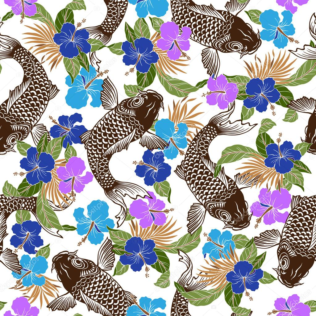 Hibiscus carp pattern
