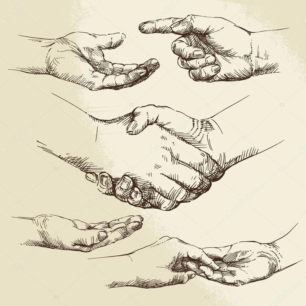 handshake - hand drawn collection