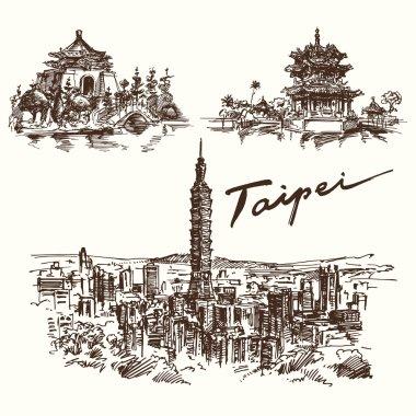 Hand drawn set - Taipei