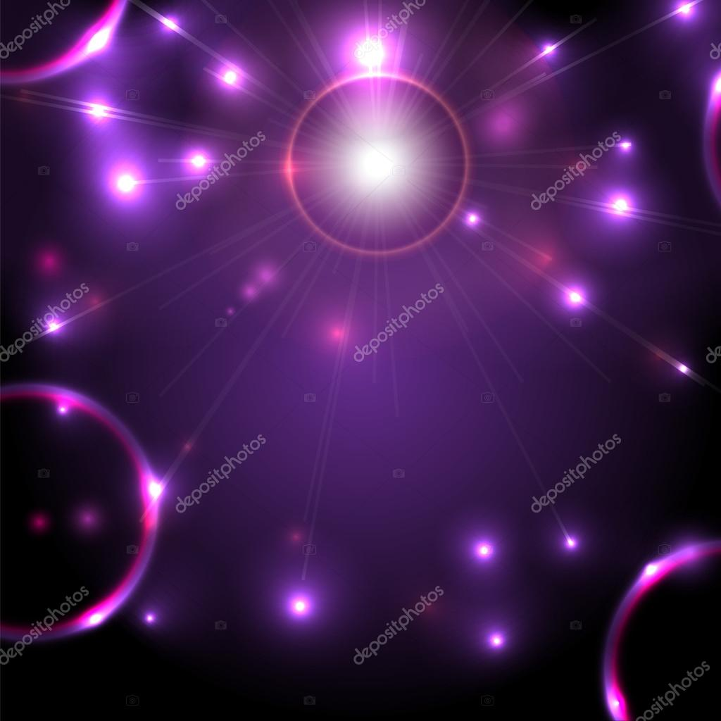 Abstract space background flickering