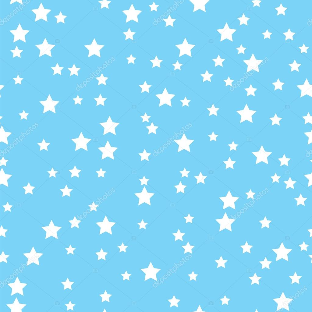 light blue wallpaper with white stars