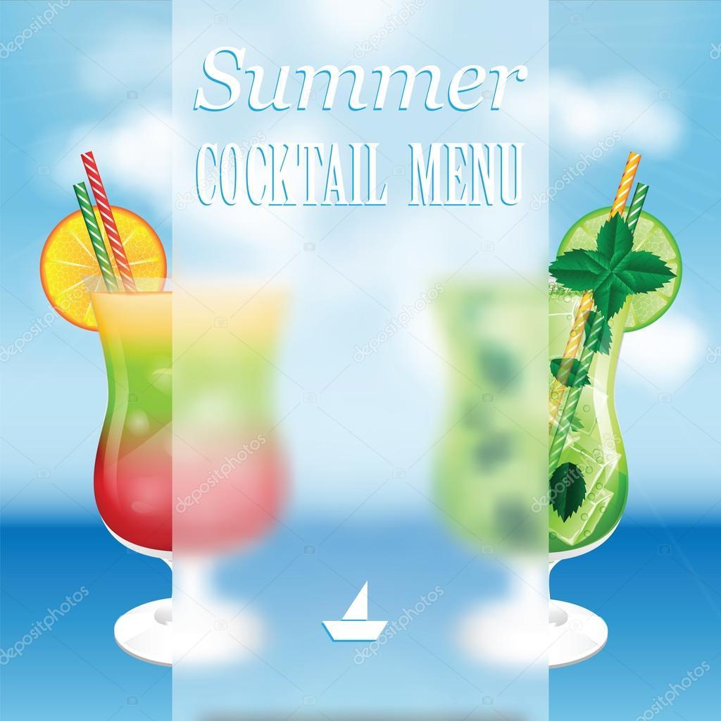 Design a menu for summer drinks
