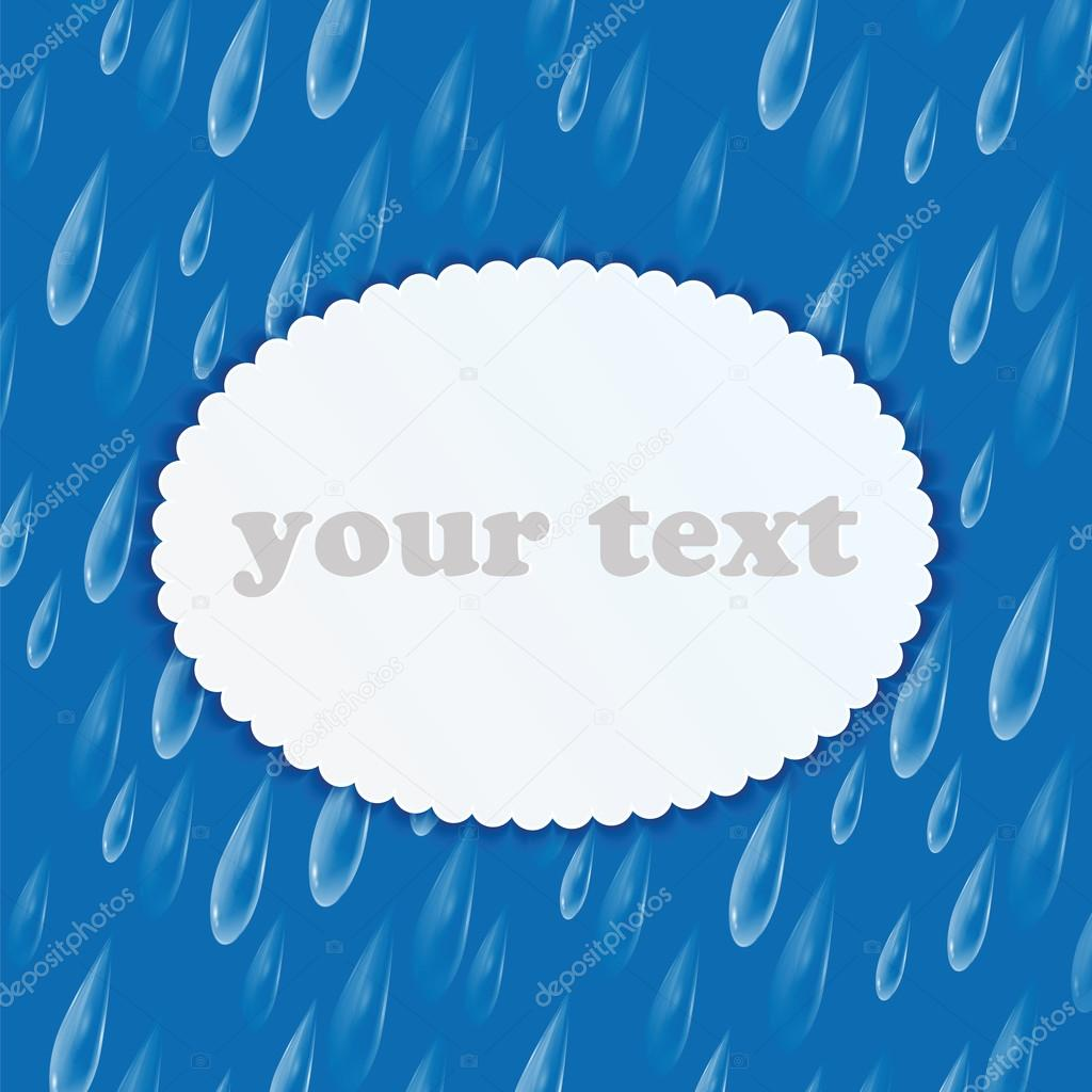 Background with rain drops and frame for your text