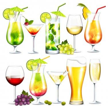 Alcohol drinks isolation
