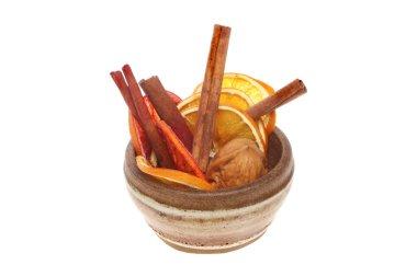 Dried orange and cinnamon