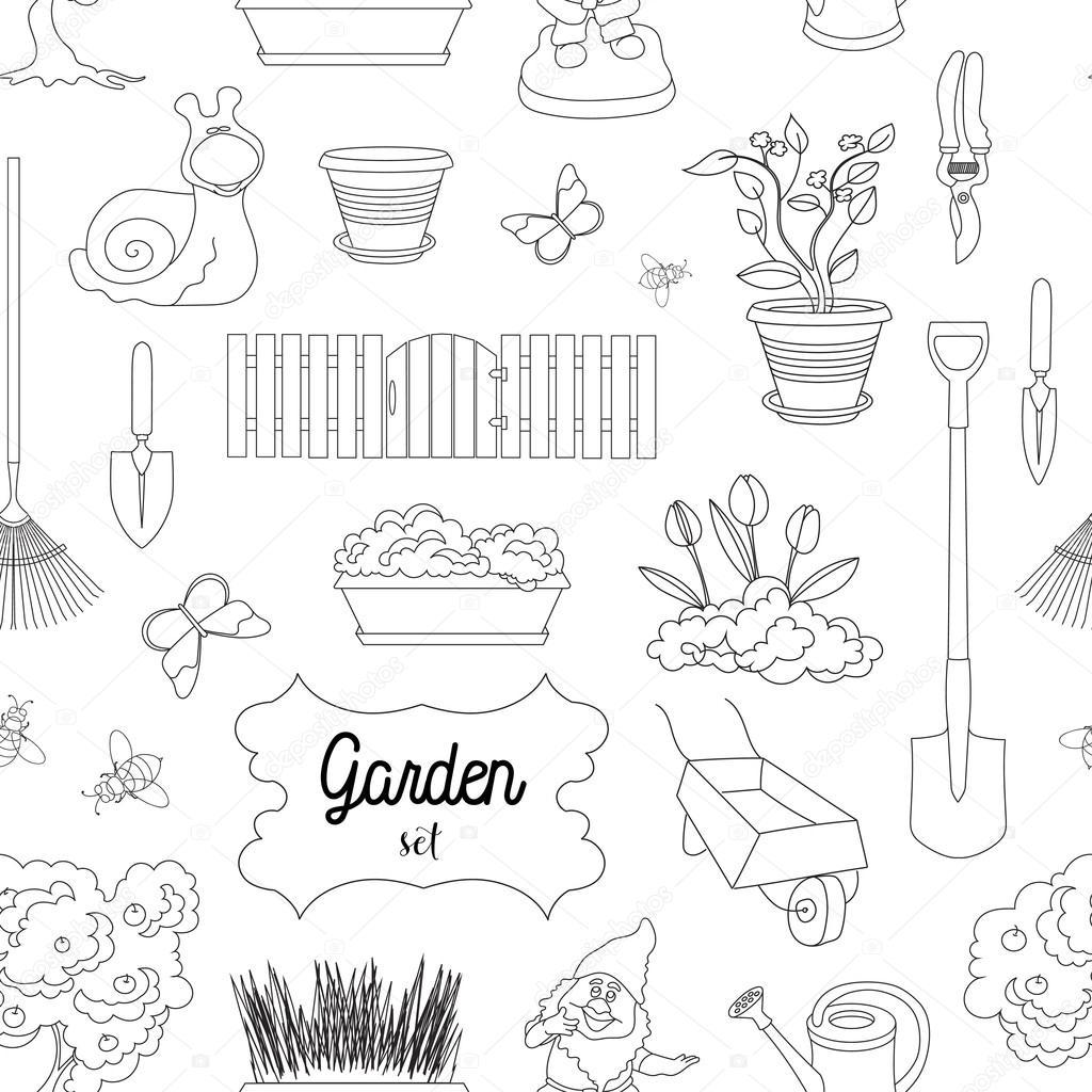 Garden set pattern
