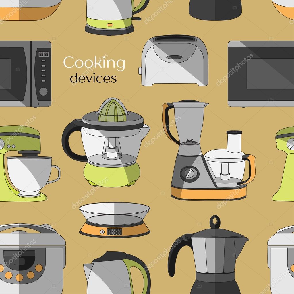 Kochende Geräte Muster — Stockvektor © Netkoff #111273688