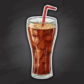 Coca cola barevný obrázek nálepka