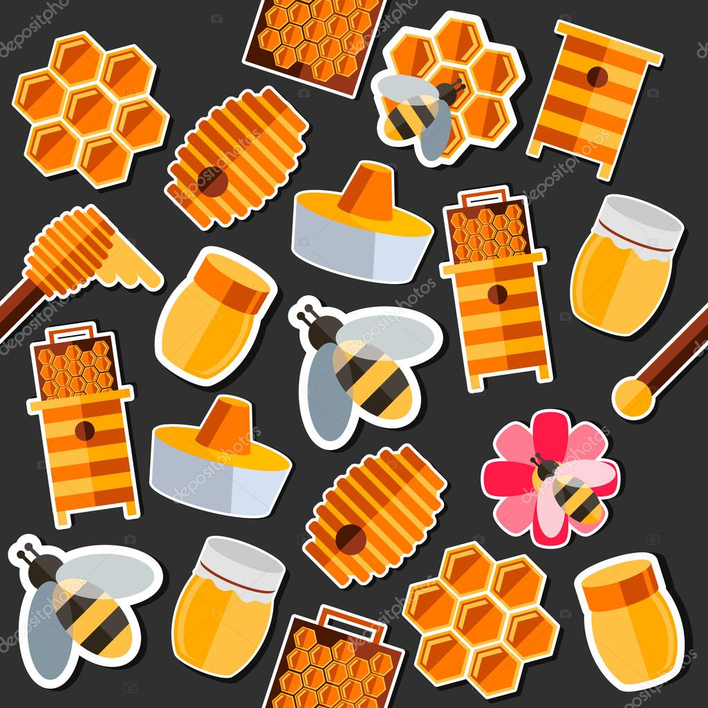 Honey flat collage